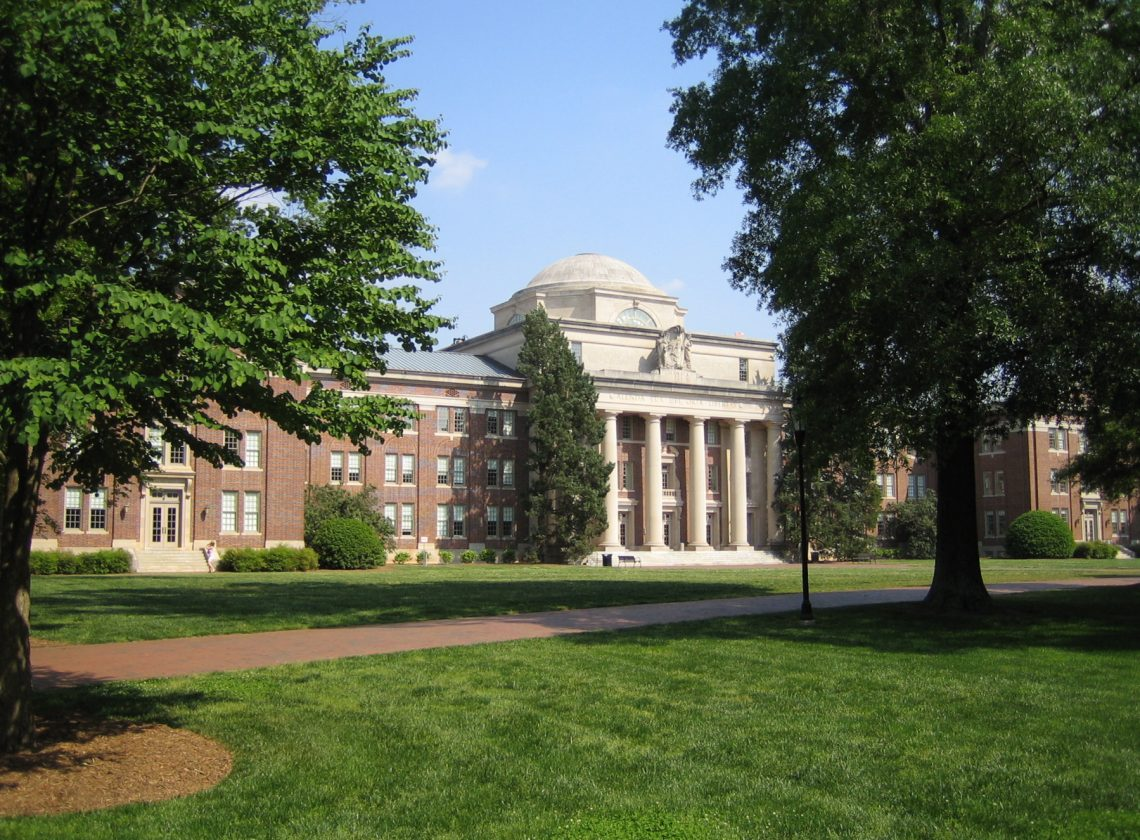 Chambers Building on Davidson College Campus