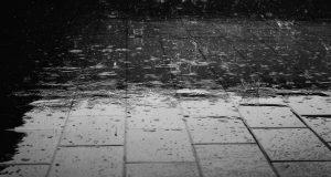 rain on bricks
