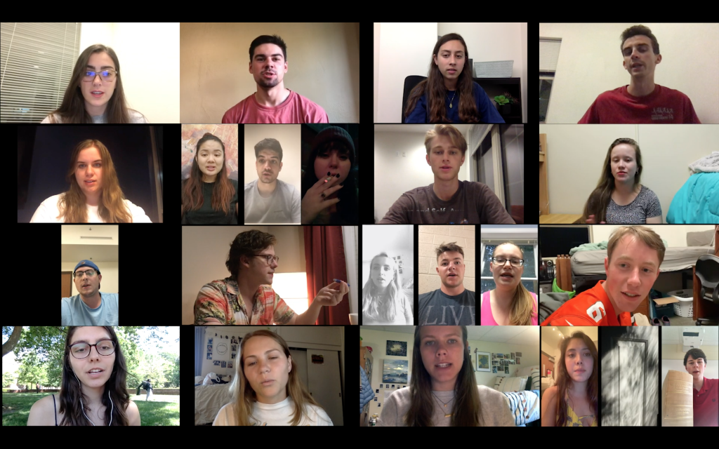 student selfie videos collage