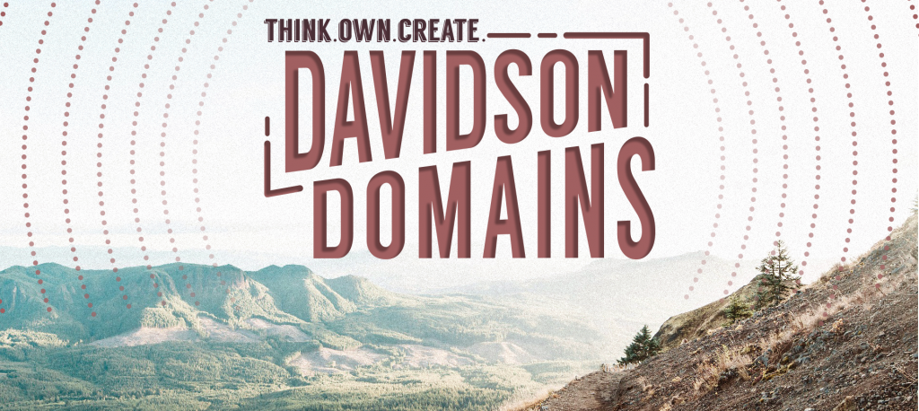 Think. Own. Create. Davidson Domains